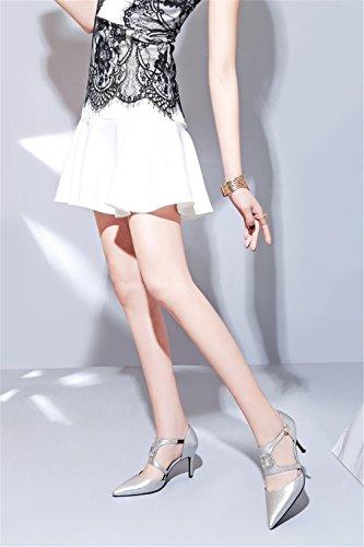 Europa 2018 Mujer Segundo Tacón América Señaladas Moda Sandalias Hebilla Alto De Cuadrado Aguja Zapatos Diamantes Imitación qRxYEFwgc