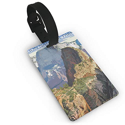 Zion National Park - Angels Landing Luggage Tags Suitcase Luggage Tags Travel Accessories Baggage Name Tags