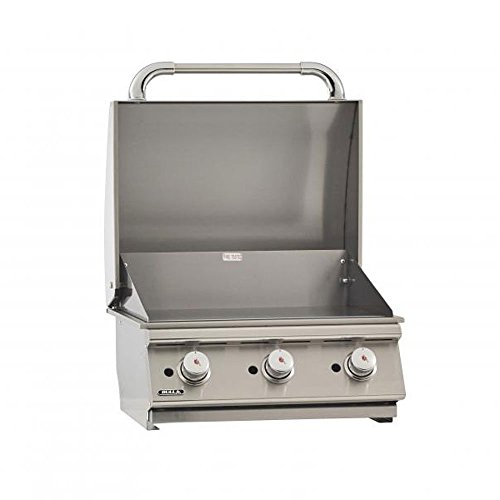"""Burner Natural Gas Bbq Grill - Bull Outdoor Products 24"""" Commercial Style built in Griddle(NATURAL GAS)"""
