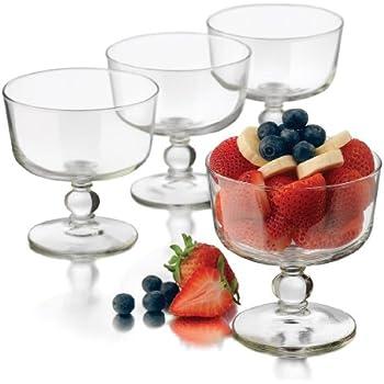 Libbey 4-Piece Selene Glass Trifle Bowl Set, Mini, Clear
