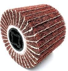 HeroStore 12010019mm Non-Woven Abrasive Nylon Polishing Wheel Flap Combi Sandpaper Brush Metal Stainless Steel Grinding Drum Material