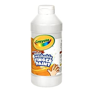Crayola; Washable Fingerpaint; Art Tools; 32-Ounce Plastic Squeeze Bottle; Bright, Bold Colors; White