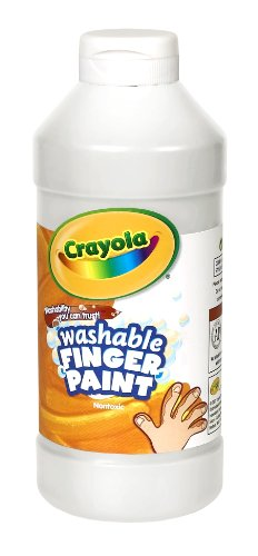 Binney & Smith Crayola Washable Finger Paint, 16 Oz., White