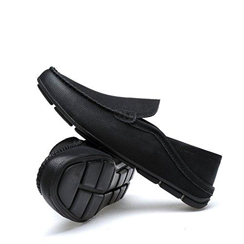 mocassini Dimensione da vera da pelle shoes Meimei rinfrescanti uomo Color cavo barca Mocassini EU leggeri casual Nero foderati traspirante 40 in e per YRSYqXw
