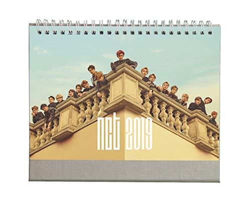 Fanstown Kpop 2019 A5 Size 8.3 x 5.8 inch Flip Spiral Bound Desk Calendar Jan - Dec Holiday Marked (NCT)