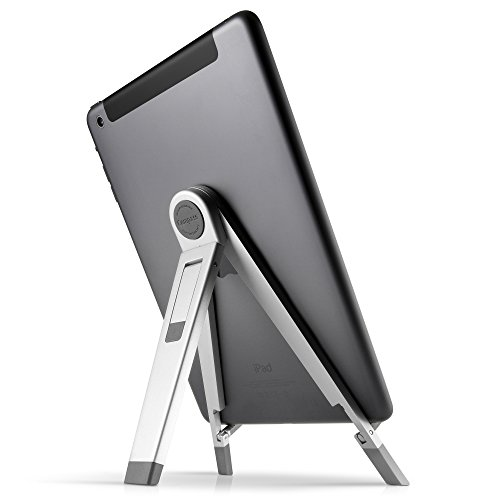 Twelve South Compass 2 for iPad, silver | Mobile display stand with typing angle for iPad Pro/iPad Air/iPad mini