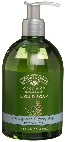 Nature's Gate Natural Organic Lemongrass and Clary Sage Herbal Blend Liquid Soap, Vegan, Paraben Free, Phthalate Free, Cruelty Free, Sulfate Free, 12 Ounce (Pack of 3)