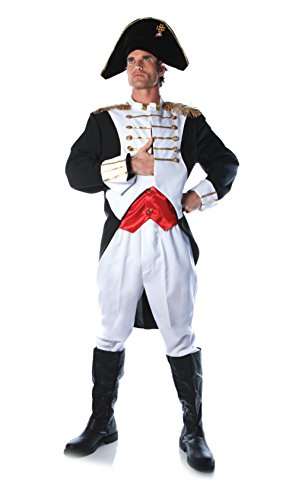 Underwraps Costumes Men's King Napoleon Costume, White/Red/Black, One Size]()