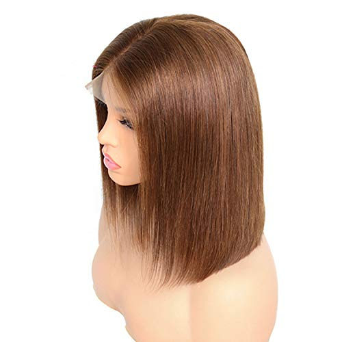 Lady night Ombre Color Lace Front Wigs For Black Women Brazilian Remy Hair Straight Short Bob Wigs