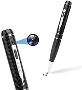 BSTCAM 32GB 1080P HD Spy Pen with Surveillance Hidden Camera,Mini Portable Nanny Body Worn HD Spy Video Recorder Hidden Camera Pen for Personal Body Security