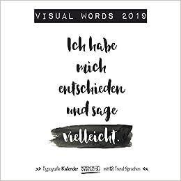 Visual Words 2019 Typo Art Broschürenkalender Mit Ferienterminen