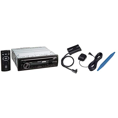 Sony MEX-N4200BT CD Receiver with Bluetooth SXV300AZV1 Connect Vehicle Tuner Kit for Satellite Radio with Installation Tool