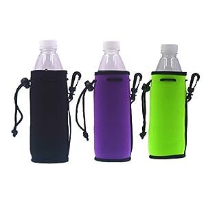 Neoprene Water Bottle Drawstring Insulator Cooler Sleeve bag (Mix-3)