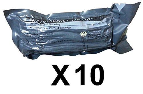 Economy Pack - 6'' Military Israeli Bandage Shipped from Israel (Lot of 10)