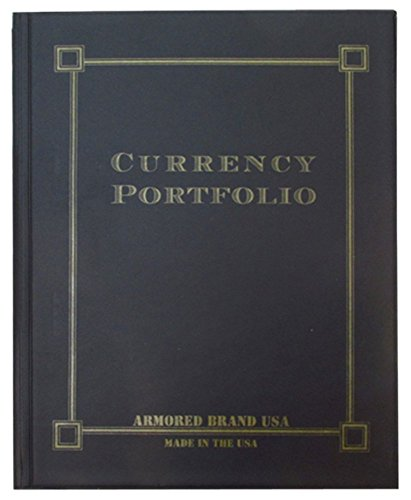 10 Page Currency Portfolio 30 Pocket Black