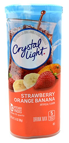 Crystal Light Strawberry Orange Banana Drink Mix, 12-Quart 2.4-Ounce Canister (Pack of 7) by Crystal Light