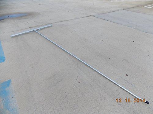 "Extra Size Aluminum Asphalt Lute Rake- 54"" Head with 10.5 Feet Long Handle"