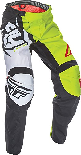 Fly Racing Unisex-Adult F-16 Pants (Black/Lime, Size 30) by Fly Racing