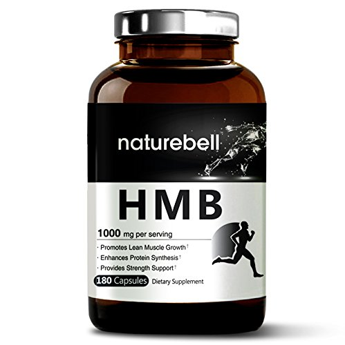 Maximum Strength HMB 1000 mg Per Serving, 180 Capsules, Powerfully Promotes Protein Synthesis, Muscle Growth and Pre-Workout Recovery. Non-GMO and Made In USA.