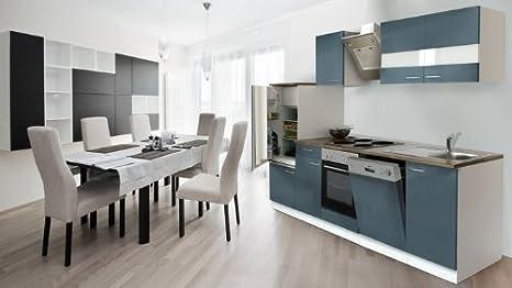 RESPEKTA Cucinino cucina incasso cucina BLOCCO CUCINA 280 cm bianco ...
