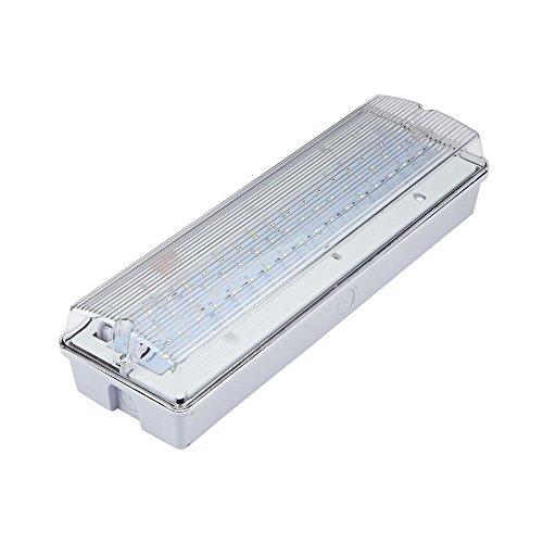 Biard 7.5W LED Rectangular IP65 Emergency Bulkhead Light