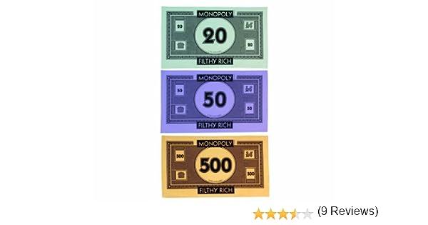 Gift Republic GR170042 - Juego de 3 Trapos de Cocina, diseño de Billetes del Monopoly: Amazon.es: Hogar
