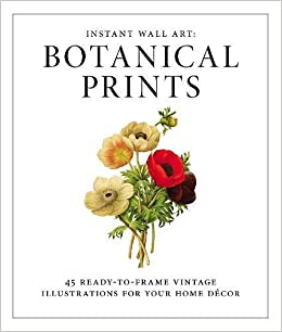 Instant Wall Art   Botanical Prints: 45 Ready To Frame Vintage  Illustrations For Your Home Decor: Adams Media: 9781440585661: Amazon.com:  Books
