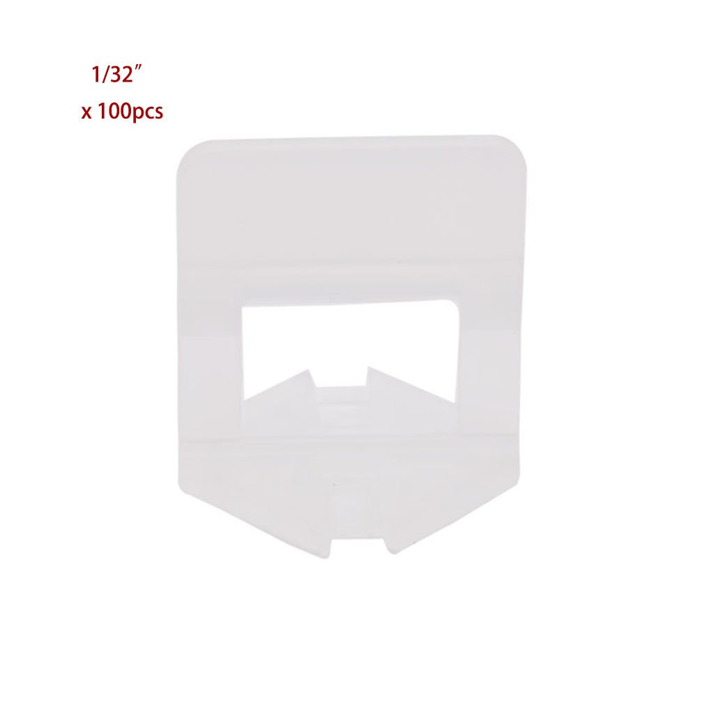 100pcs / lot 1mm 1/32'' Joint Clear Wall Floor Tile Leveling System Clip Tile Spacer DIY Installation Tool Parts Aligned Lippage Free