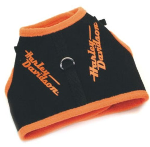 Harley-Davidson® Vest Style Harnesses for Smaller Dogs. Orange (Medium)