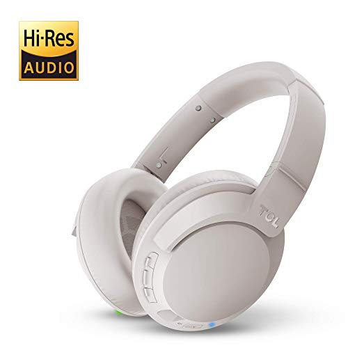 TCL Cement Gray On-Ear Noise Cancelling Hi-Res Wireless Headphones with Built-in Mic - ELIT400NCWT