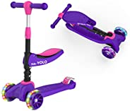 RideVOLO K02 2-in-1 Kick Scooter with Removable Seat Great for 2-6 Years Old – Adjustable Height Extra-Wide De