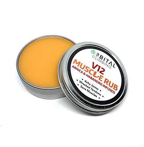 Boulder Balm: V12 Sore Muscle Rub Arnica Habanero and Menthol Herb infused Plant Based Vegan Formula for Achy Joints Tendons Temporary Muscle Pain Relief
