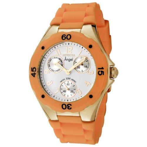 Invicta Women's 0708 Angel Collection Orange Polyurethane Watch