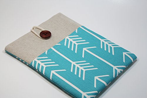 97-inch-iPad-Pro-Cover-Case-with-Pocket-Chevron-iPad-Air-2-Sleeve-in-Teal-Arrows-Print