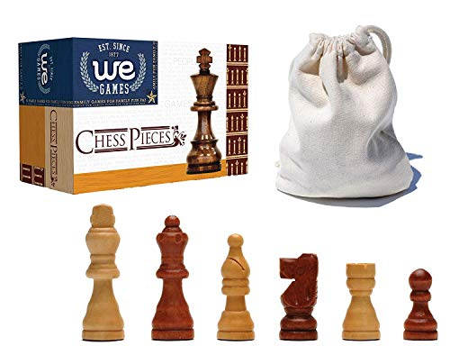 WE Games French Staunton Wood Chessmen with 2.5 inch King