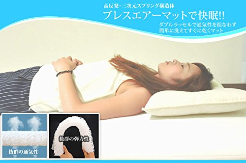 眠り姫 高弾発 パラレーヴTM ハード40mm マット クィーン ホワイト ダブルラッセル 日本製 B0129TBETA クイーン|ホワイト ホワイト クイーン