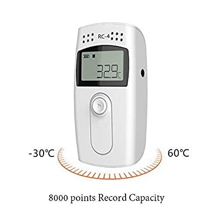 Temperature Data Logger-Therm RC-4 USB LCD Screen Temperature Data logger 16000 Point External Sensor Datalogger Recorder