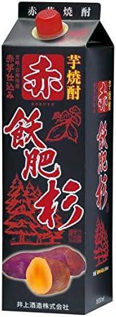 焼酎 芋焼酎 赤飫肥杉 パック 20度 1.8L 6本 1ケース 井上酒造