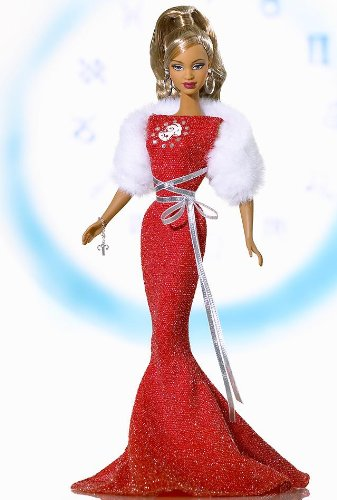 Aries March21 - April 20 Barbie Pink Label African American Edition Zodiac Dolls by Mattel African American Aries Barbie