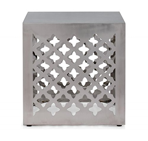 Modern Contemporary Stool, Silver Stainless Steel by America Luxury - Chairs (Image #3)