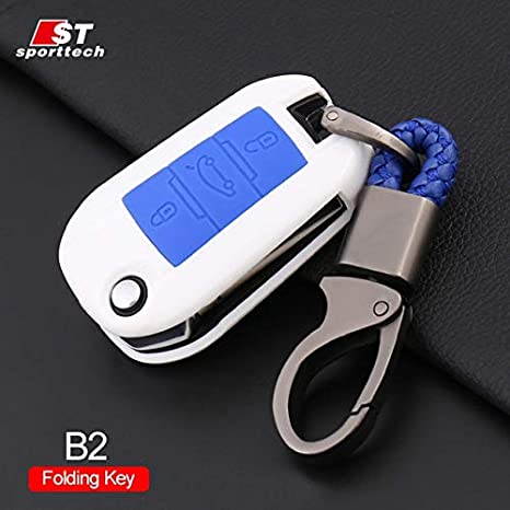 Amazon.com: Key Case Car Keychain For Peugeot 5008 4008 3008 ...