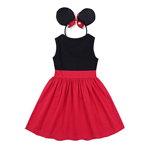 Baby Girl Princess Costume Summer Dresses Minnie Cartoon Cosplay Birthday Party Outfits T Shirt Skirt Clothes Set 18-24 Months by IBTOM CASTLE (Image #2)