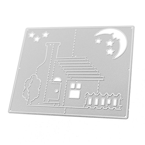 GOP Store Metal Cutting Dies Stencil 3D Stereo House Moon Scrapbooking Die Cuts Christmas Cards Album Decorative Embossing Craft Dies Cut