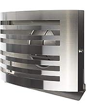 Premium afvoerrooster, ventilatierooster, keukenafvoerrooster, afzuigrooster, aansluitstukken, roestvrij staal, overdrukrooster met geïsoleerde terugslagklep 150mm roestvrij staal geborsteld
