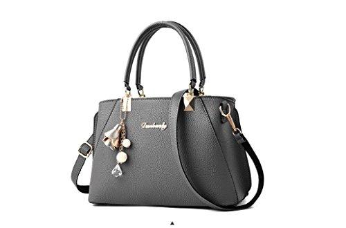 bolso del de mujeres estilo LEODIKA mano Nuevas Gray DEL Snx1OEPX