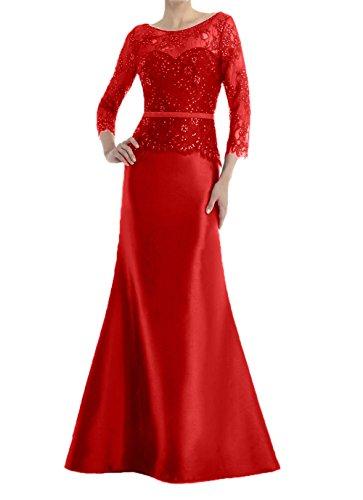 Meerjungfrau Blau Partykleider Rot Charmant Royal Spitze Festlichkleider Damen Lang Abendkleider Brautmutterkleider fPWqIqwg6U