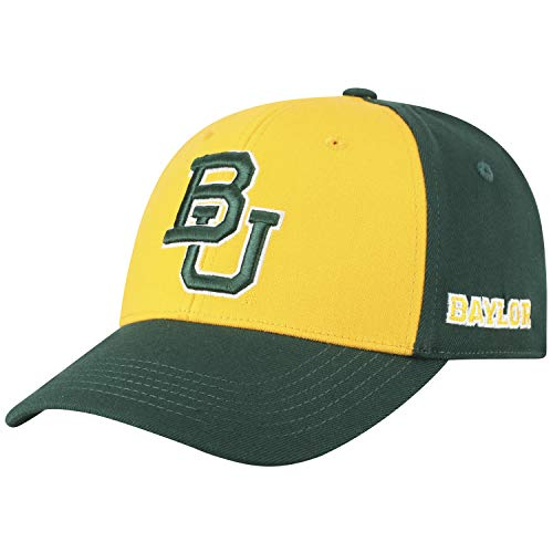 Top of the World NCAA-Premium Two Tone-One-Fit-Memory Fit-Hat Cap-Baylor (Bears One Fit Cap)