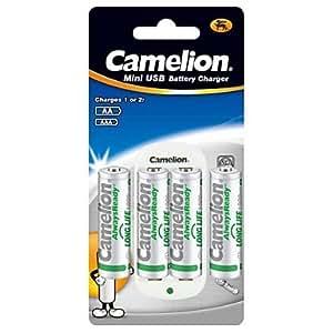 cargador estándar para Camelion pila aa / aaa con baterías recargables 4pcs 1000mAh alwaysready AA Ni-MH