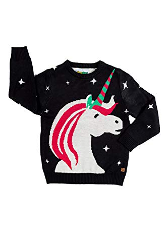 Cute Baby Unicorn Christmas Sweater - Ugly Christmas Sweater for Infant: 3-6M Black