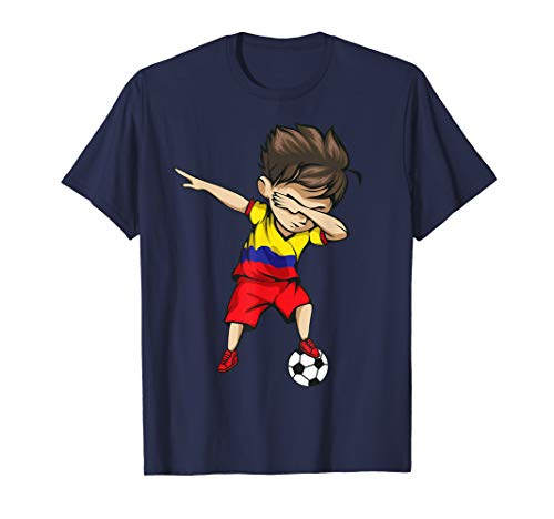 Dabbing Soccer Boy Colombia Jersey Shirt Colombian Football